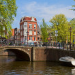 Canal ring in Amsterdam, Netherland — Stock Photo