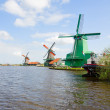 View of  Zaanse Schans windmills — Stock Photo
