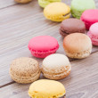 Pile of assorted macaroons — Stock Photo