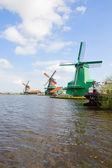 View of Zaanse Schans windmills — Stock Photo