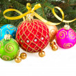 Multicolored Christmas balls — Stock Photo