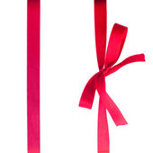 Creimson red ribbon with bow — Foto Stock