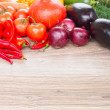 Border  of  vegetables — Stock Photo