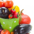 Fresh Vegetables In Container — Stock Photo