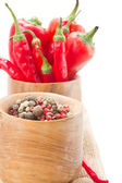 Mix of red pepper and peppercorn cloe up — Stock Photo