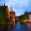 Night scene of Brugge — Stock Photo