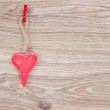 One hanging hearts — Stock Photo