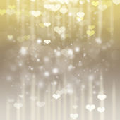 Valentines day siver anf gold background — Stock Photo