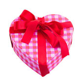 Gift box in shape of heart — Photo
