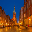 Long street at Old town of Gdansk — Stock Photo