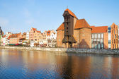 Zuraw and old waterfront, Gdansk — Stock Photo