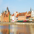 Old town waterfront, Gdansk — Stock Photo