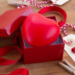 Heart in box for valentines day — Stock Photo