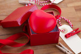 Heart in box for valentines day — Foto Stock