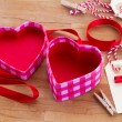 Empty box in heart shape — Stock Photo
