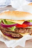 Big burger close up — Stock Photo