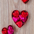 Set of three heart candies — Stock Photo