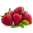 Stock Photo: Pile of raw strawberry