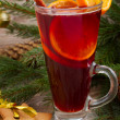 Mulled wine and gingerbread cookies — Stock Photo