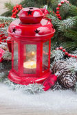 Christmas lantern close up — Foto Stock