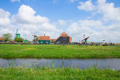 Skyline of old town of Zaanse Schans — Stock Photo