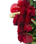 Valentine's day dark red roses — Stock Photo