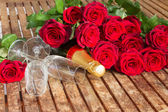 Valentine's day dark red roses — Stockfoto
