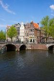 Bridges of canal ring, Amsterdam — Stock Photo