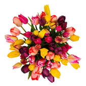 Round bouquet of tulips flowers — Stock Photo