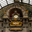 Clock on Antwerp Central Railway Station — Stock Photo #39171713