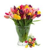花瓶に新鮮なチューリップの束 — ストック写真