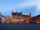 Burg square, Brugge — Stock Photo