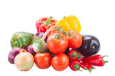 Pile of raw vegetables — Stockfoto