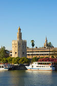 Golden Tower (Torre del Oro) of Sevilla, Spain — Stock Photo