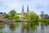 Old city gate to Delft, Netherlands — Stock Photo