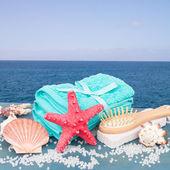 Sea spa setting by seaside — Stock Photo