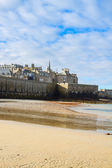Saint-Malo City Wall , Brittany, France — Stock Photo