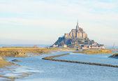 Mont Saint Michel over sea , France — Stock Photo