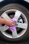 Washing coated wheels — ストック写真