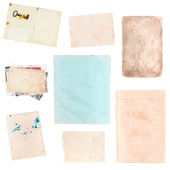 Set of various old paper sheets and pictures — Stock Photo