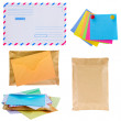 Pile of mail, envelopes and stickers — Stock Photo #41991755