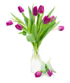 Ramo de tulipanes violeta — Foto de Stock