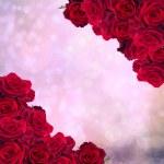 Frame of dark red roses — 图库照片 #42808573