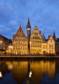 Picturesque medieval buildings, Ghent — Stock Photo