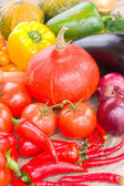 Fresh colorful vegetables on a table — Stock Photo