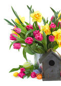Spring flowers boquet for easter — Stock Photo