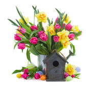Spring flowers  for easter — Stock Photo