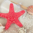 Starfish with sea salt — Stock Photo #43392919