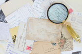 Pile of old letters — Stock Photo