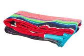 Folded beach towel — Stock Photo